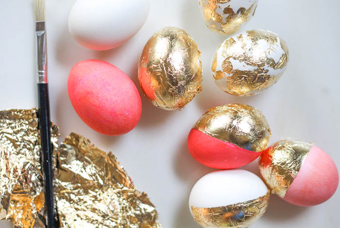 Gold Leaf + Easter Eggs - The Darling Detail