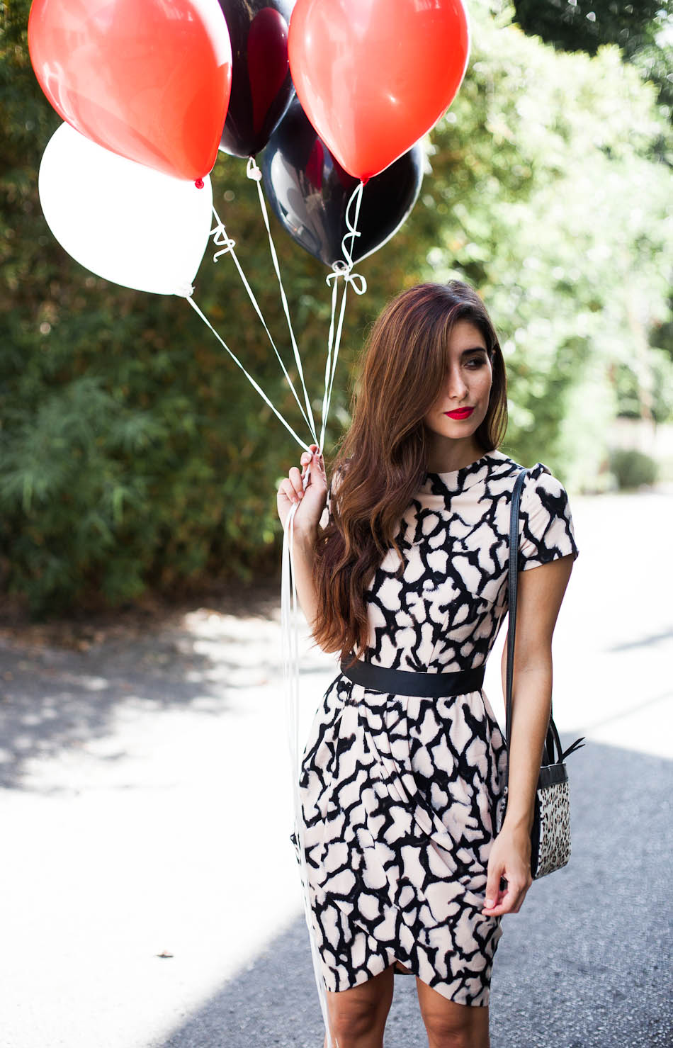 The asos tulip dress in animal print #style #love