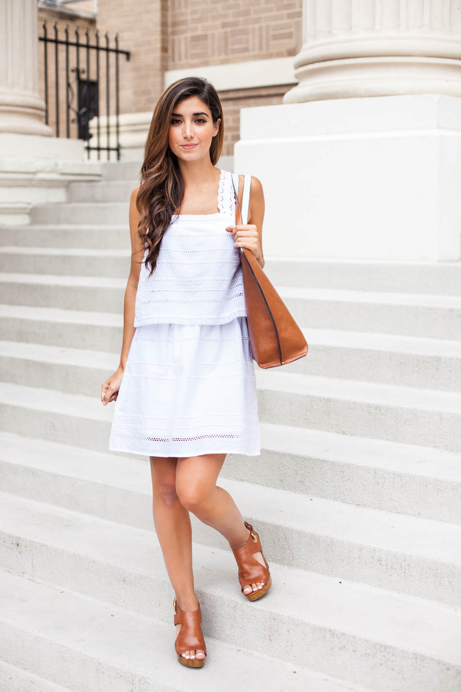 the little white summer dress the darling detail