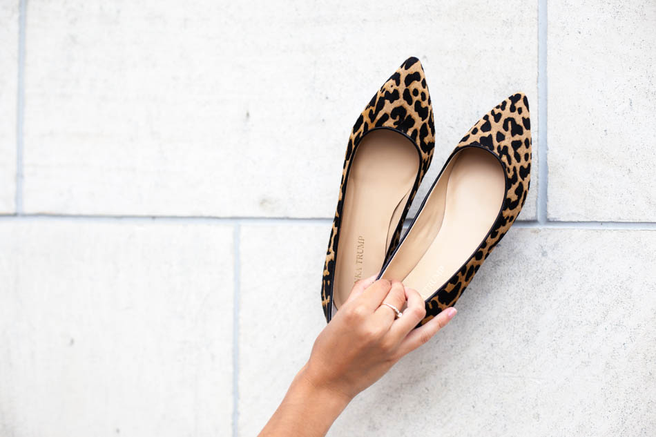 leopard pointed-toe flats - The Darling