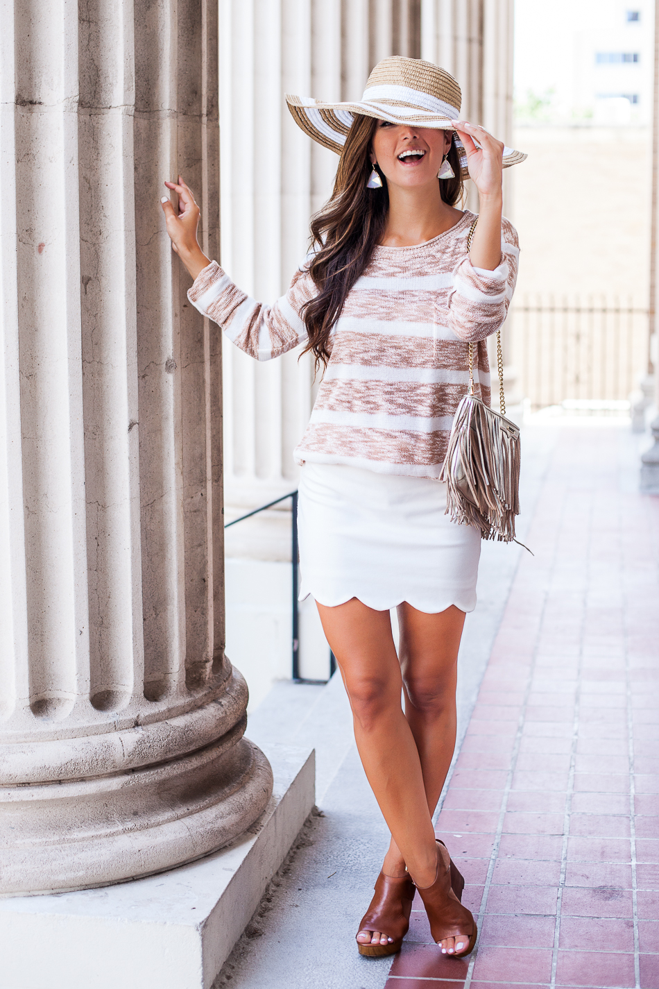summer sweater outfit