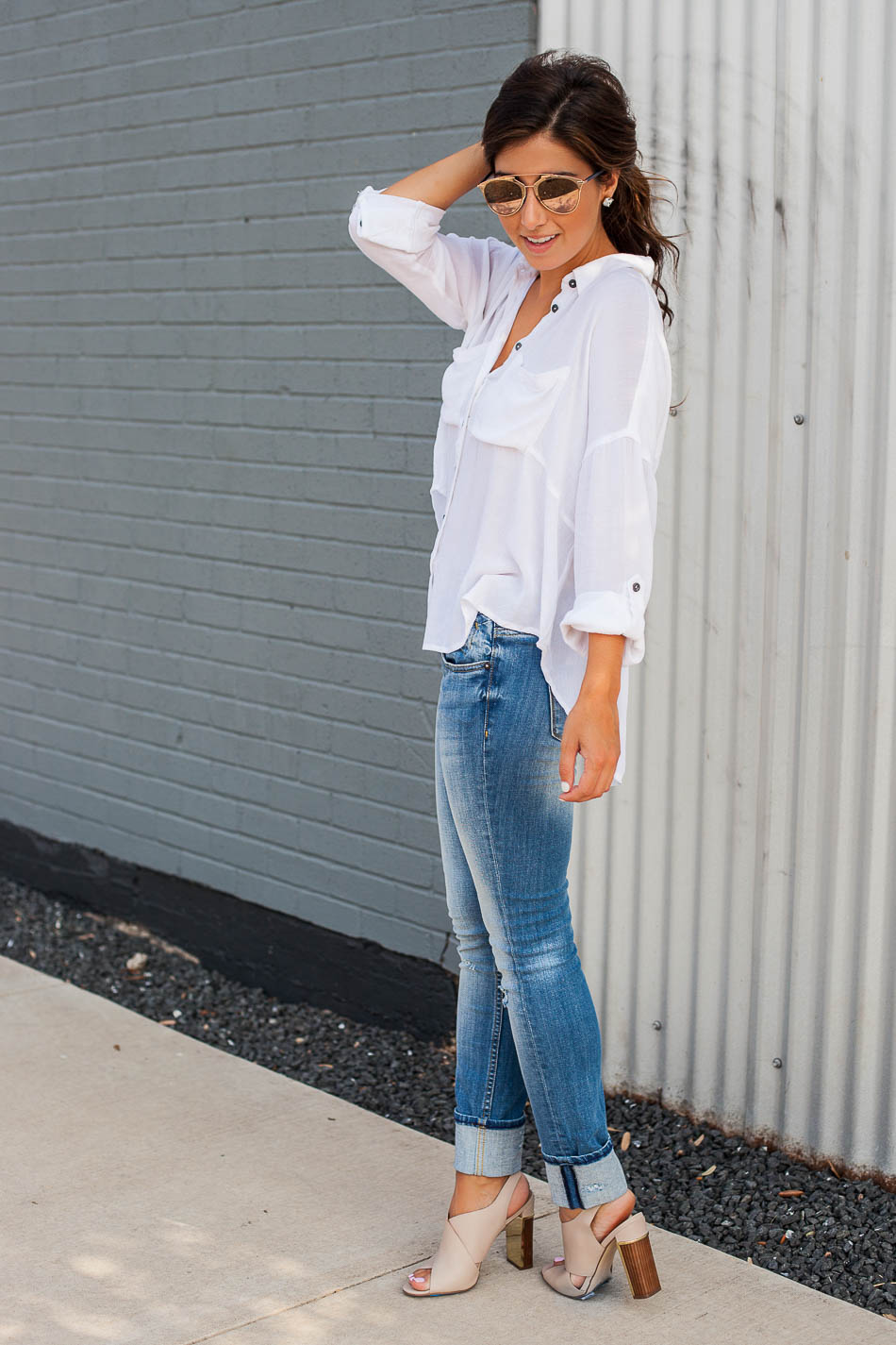 White Tee + Jeans - The Darling Detail
