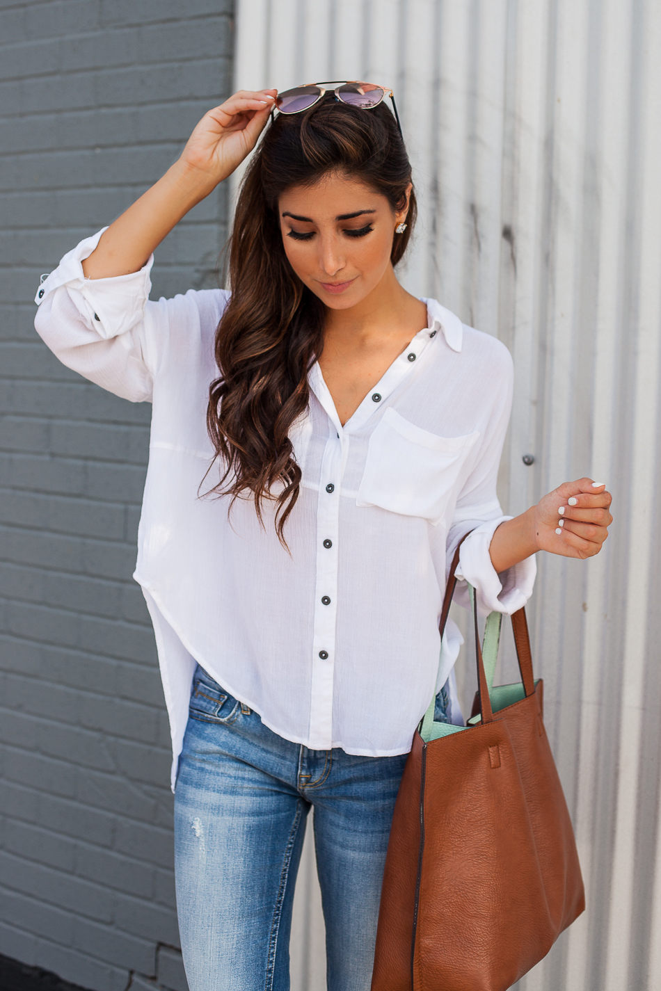 effortless tee and jeans