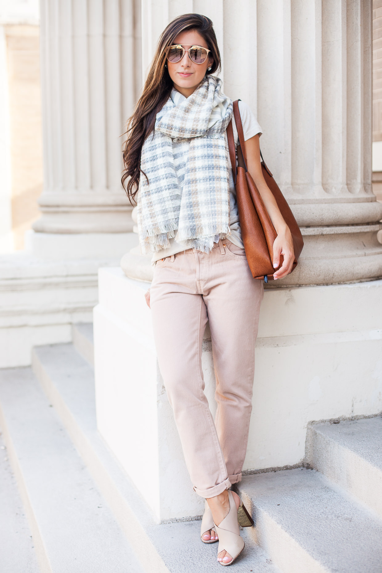 fall pastel outfit