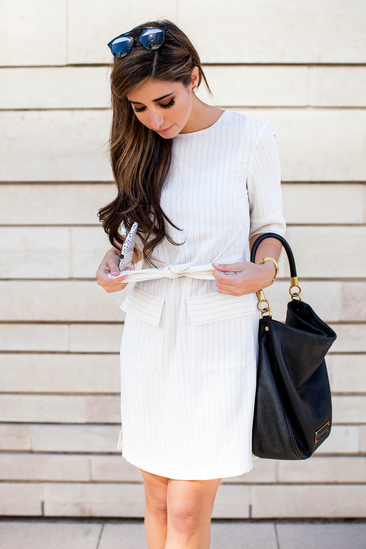 The Darling Detail in a Topshop business casual dress