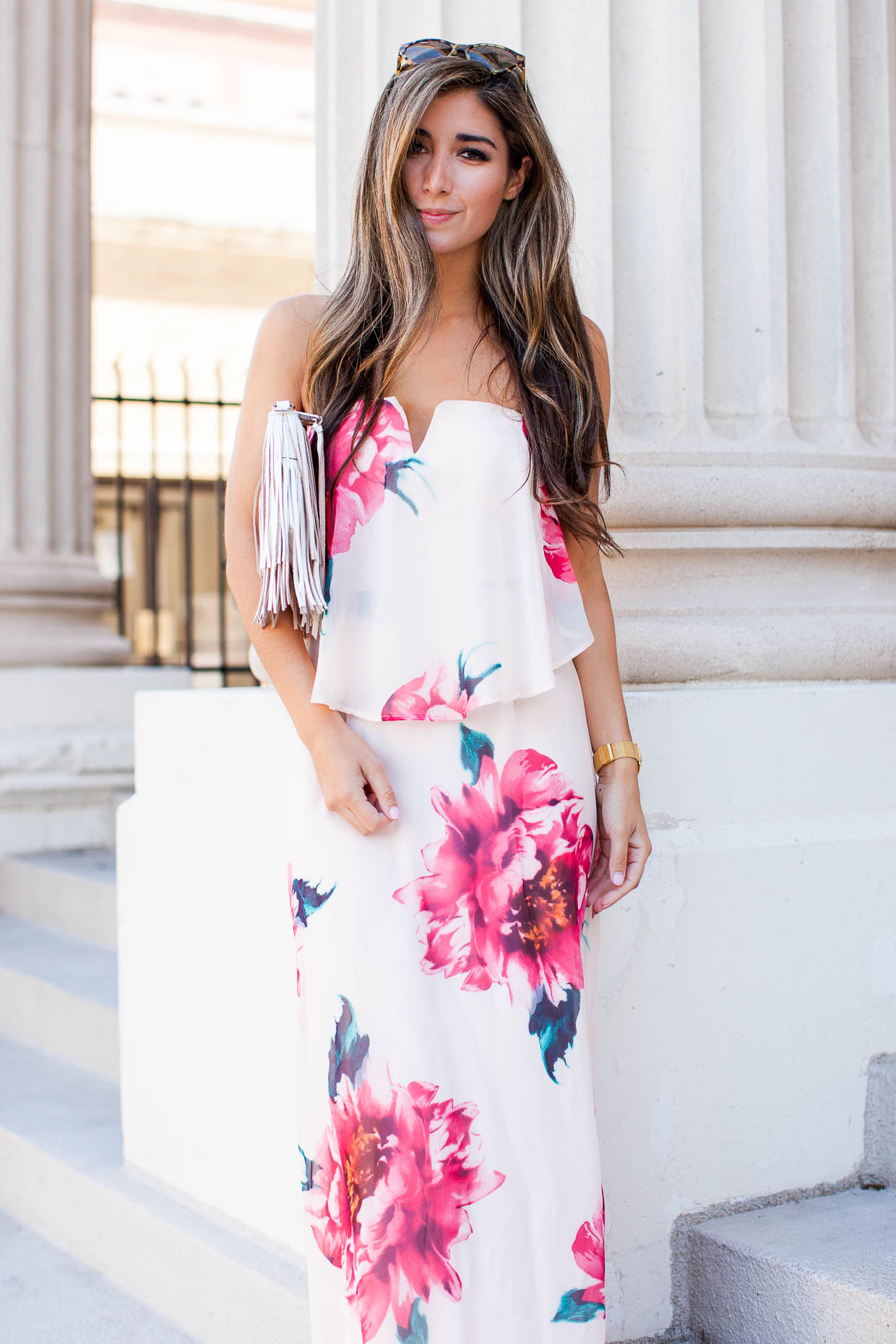 The Darling Detail wears Spring dress from Nordstrom