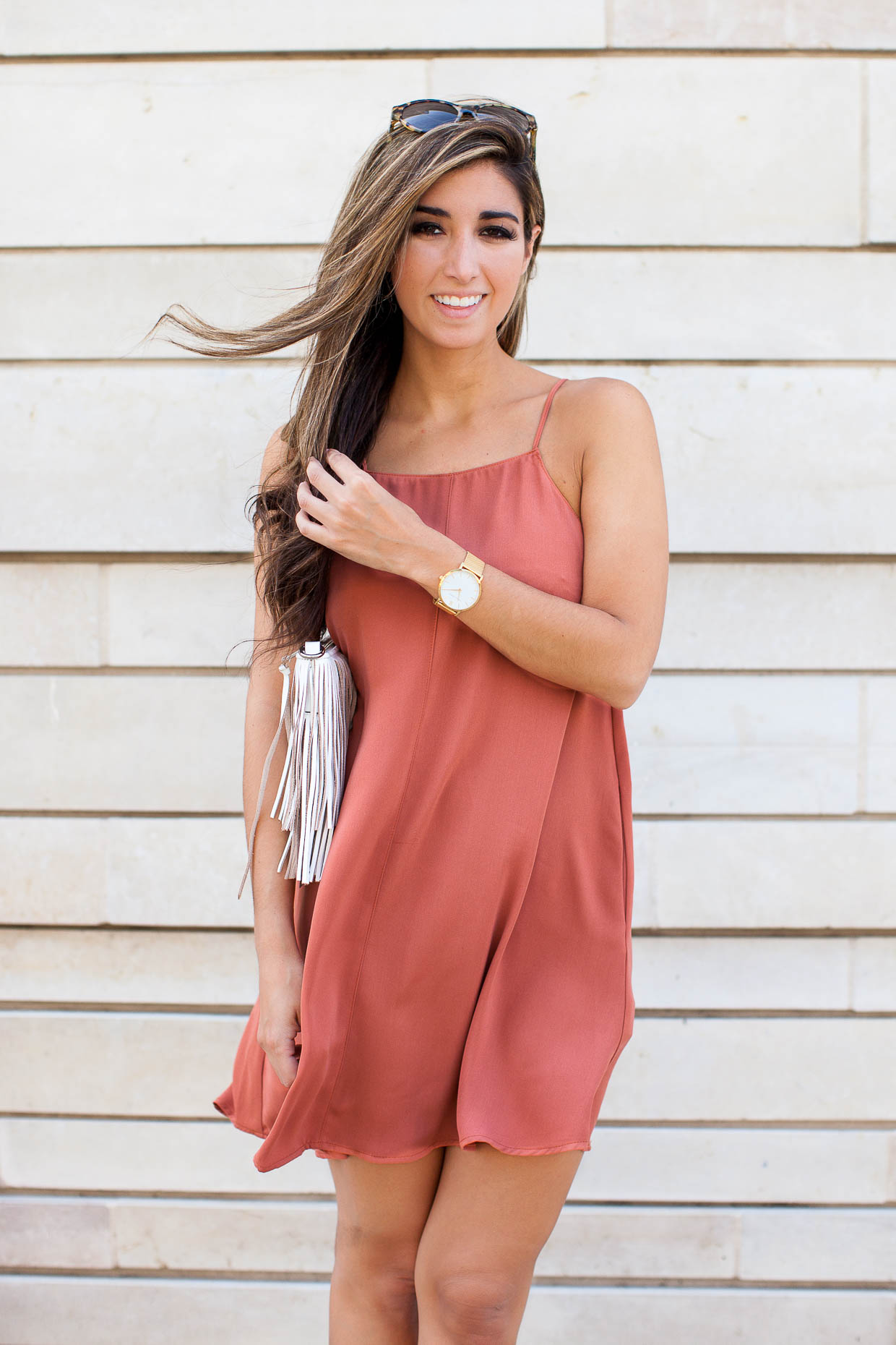 The Darling Detail wears little shift dress from Nordstrom