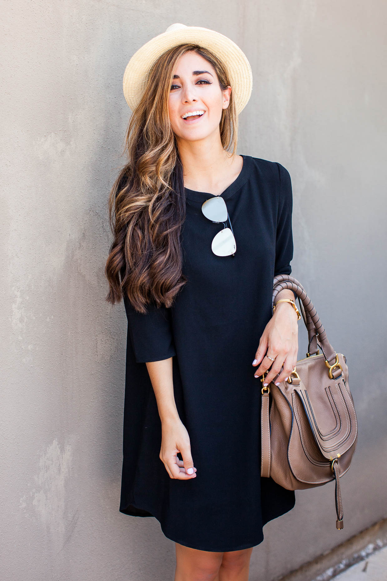 In this post, Fashion Blogger The Darling Detail is wearing a Nordstrom BB Dakota 'Jazlyn' Crepe Shift Dress and styling it several different ways.