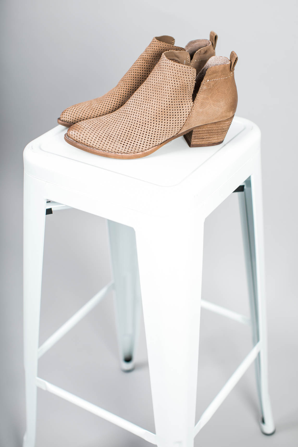 Fashion blogger The Darling Detail wears Dolce Vita Sonya Perforated Split Shaft Bootie