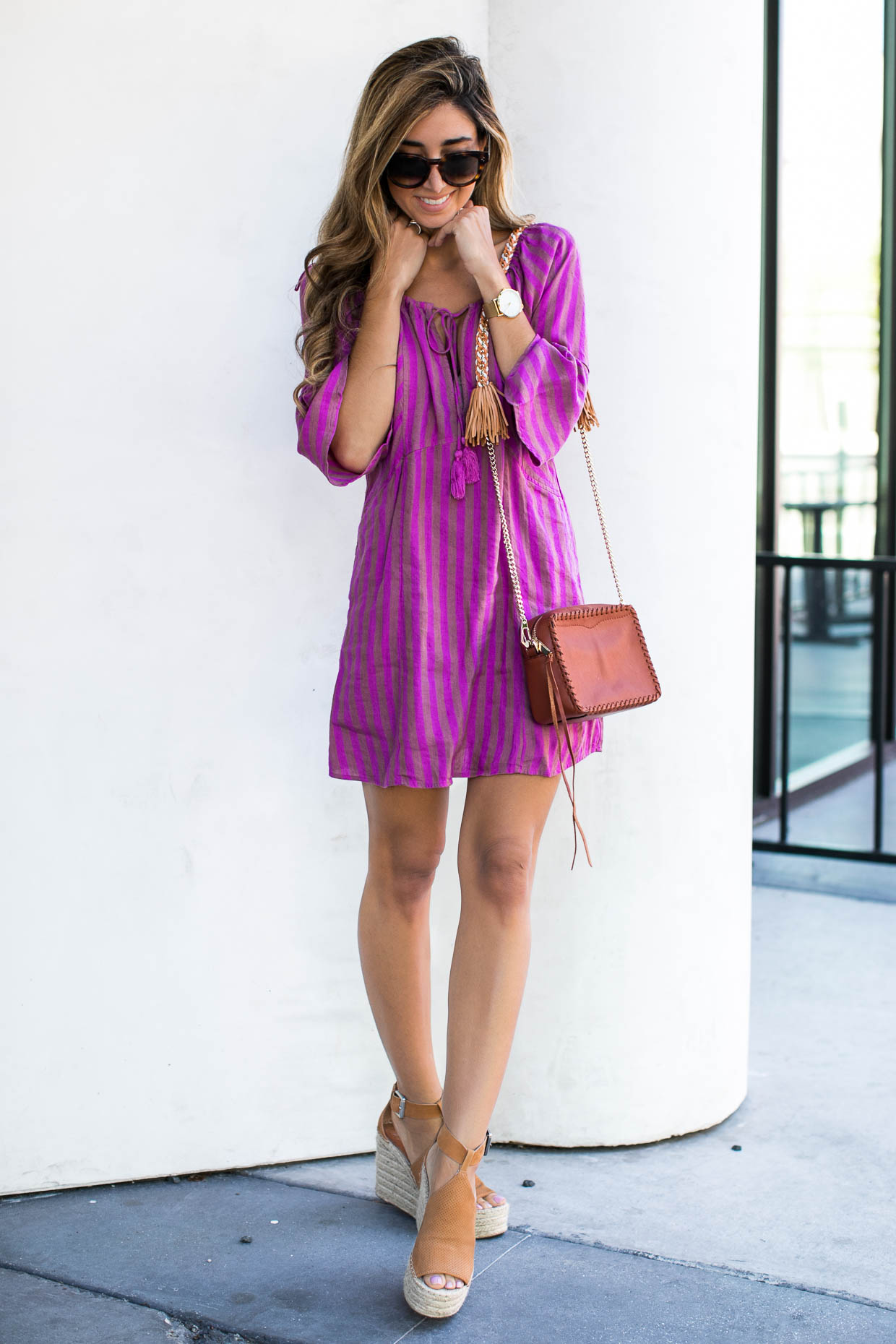 15bb9bac8d80 ... Fashion blogger The Darling Detail wears Free People Folk Town  Minidress