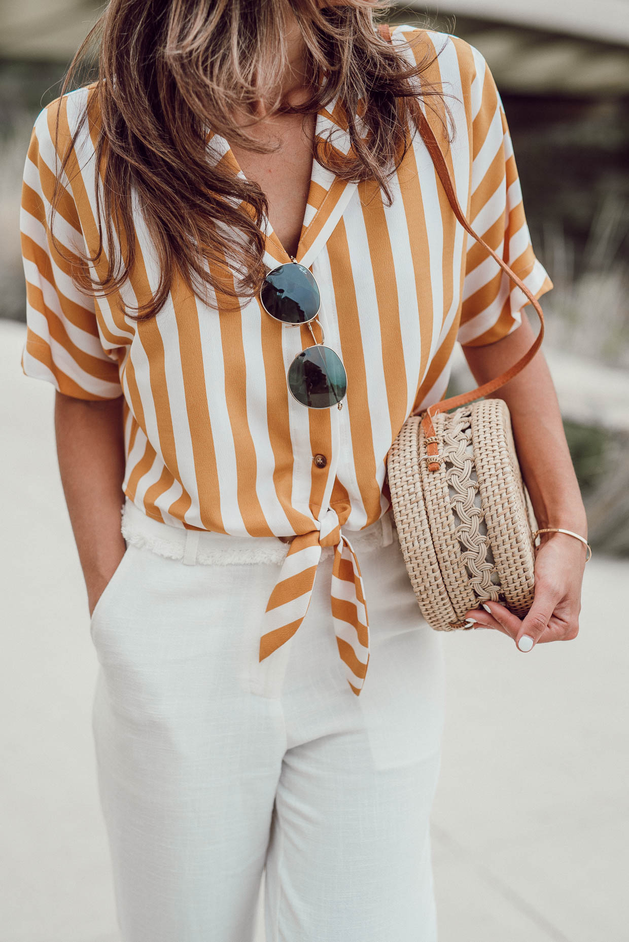 striped summer top