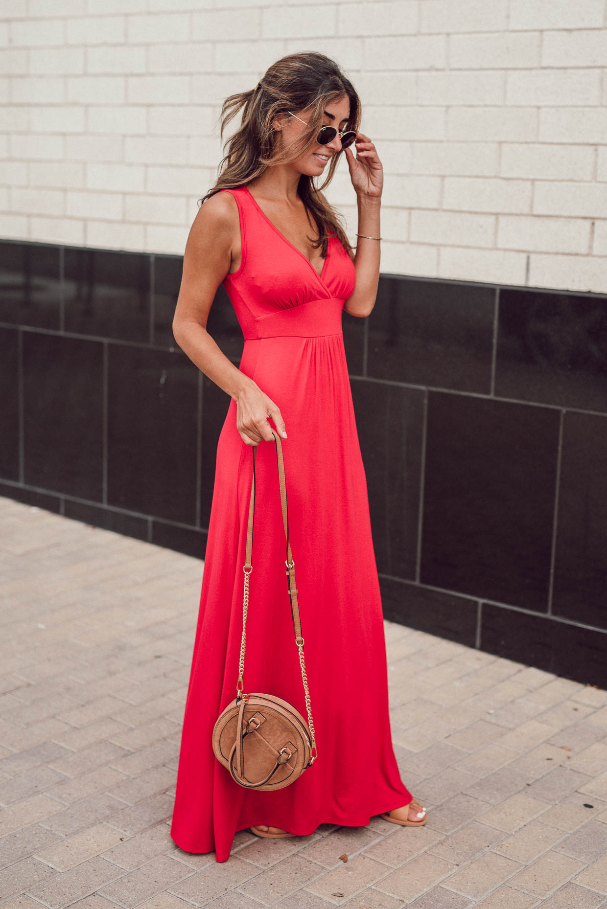 red maxi dress summer